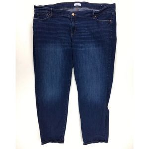 LOFT Plus Womans 26 Skinny Crop Blue Jeans